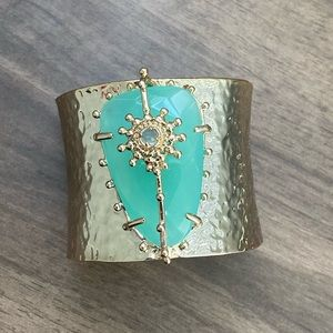 Beautiful Hammered Gold Cuff Bracelet